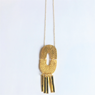 SHABANA J necklace aztec gold 812