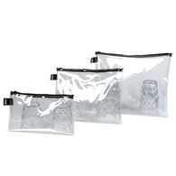 LOQI zip pockets transparent set/3