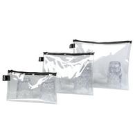 LOQI zip pockets transparent set/3