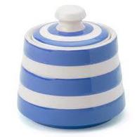 CORNISHWARE covered sugar bowl