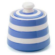 CORNISHWARE covered sugar bowl