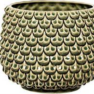 BLOOMINGVILLE flowerpot stoneware green