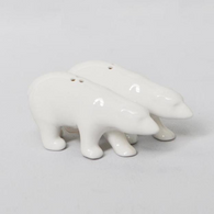 WHITE MOOSE bear salt and pepper shakers