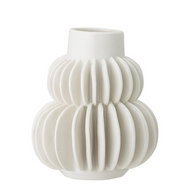 BLOOMINGVILLE vase white, stoneware