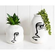 RAYELL vase line face 12x12x19