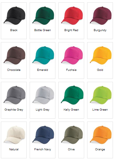 Baseball Caps Colours