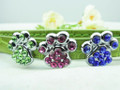 Rhinestone Paws for 10mm Slider collars - Green, Pink or Blue