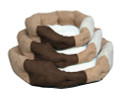Soft Velour Pet Bed available in 3 sizes - Small, Medium and Large