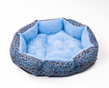 Blue Leopard Skin Coloured Pet Bed