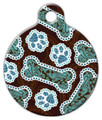 Dog Tag Art - Java Paisley Dog ID Tag