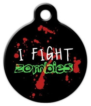 Dog Tag Art - Zombie Fighter ID Tag