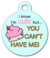 Dog Tag Art - Cute as a Cupcake Pet ID Tag