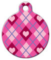 Dog Tag Art - Puppy Love Lupine Pattern Pet ID Tag