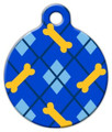 Dog Tag Art - Dapper Dog Lupine Pattern Pet Identity Tag