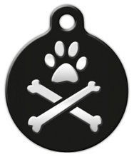 Dog Tag Art - Bling Bonz Lupine Pattern Dog Tag for Dogs