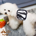 Male Dog Belly Bands Black n White