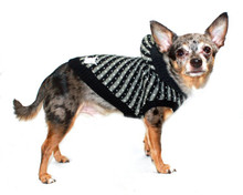 Hip Doggie Candy Striped Hooded Dog Sweater