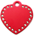 Genuine Swarovski Elements Heart Pet ID Tag
