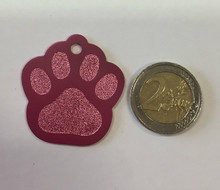 Pet ID Tag For Dogs & Cats - Large Paw Design