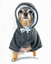 Hip Doggie Crest Fleece Grey Hoodie