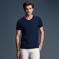 Anvil v-neck fashion basic tshirt