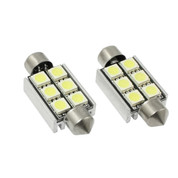 CANBUS 36MM 6-SMD 5050 LED FESTOON - ERROR FREE