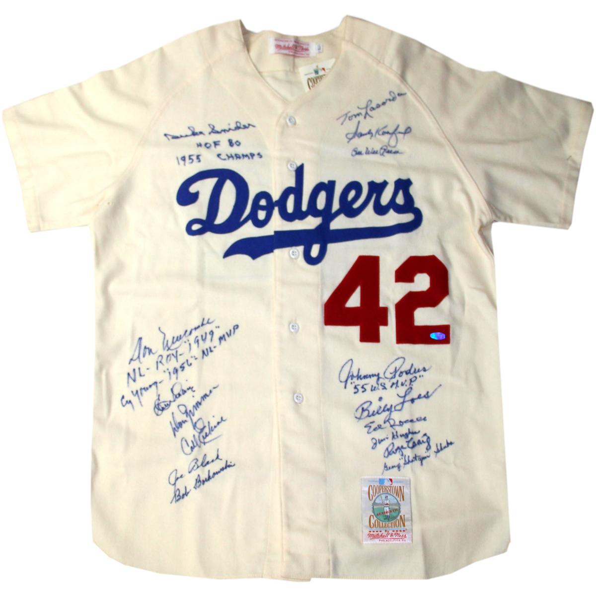42 MULTI SIGNED JERSEY 16 SIGNATURES. Jackie Robinson . 708aa589e83