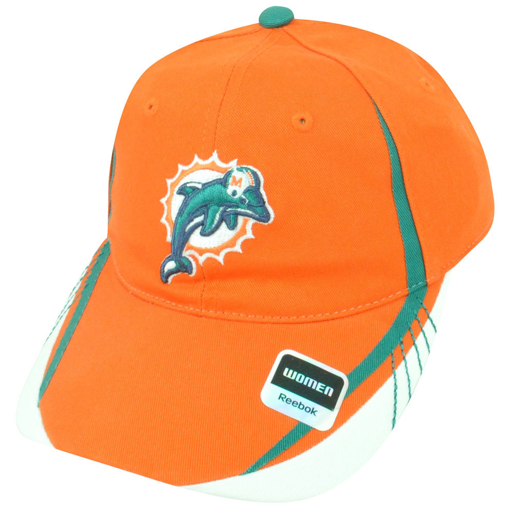 NFL Miami Dolphins Reebok Women s Clip Buckle Orange Green Draft Cap ... 73ad8053be