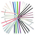 "BUNZL/PRIMESOURCE STRAWS # 76009704 - White Flex Jumbo Straws, 7¾"", Wrapped, 400/slv, 25 slv/cs"
