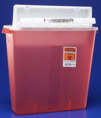 Medtronic Covidien/Kendall Sharpstar IV Sharps Container W/Sharpstar Lid #  8541SA - Sharpstar, 4 Gal, Red, Counter Balanced Lid, 10/cs