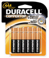 DURACELL COPPERTOP RETAIL BATTERY # MN1604B2Z - Battery, Alkaline, Size 9V, 2pk, 4/pk, 12/cs (UPC# 03961)