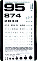 Graham Field Grafco Pocket Size Plastic Eye Chart # 1243-1 - Careforde Healthcare Supply