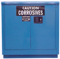 "SECURALL ACID / CORROSIVE STORAGE CABINET # C224 - 24 gallon, Self-Close, Self-Latch Sliding Door, 1 shelf, 36""H x 35""W x 22""D, each"