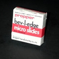 "Propper Bev-L-Edge Micro Slides # 15400100 - Frosted Micro Slides, 3"" X 1""X 0.9"", 10/Gr"