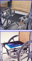 "Skil-Care J-Hook Drop-Seat. w/Gel Cushion # 704320 - 18"", set"