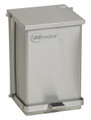 UMF Medical Waste Receptacles  # SS1473 - Stainless Steel Step-On Waste Receptacle, 24 Quart (6 Gallon / 23 Liter) 16 H x 11-3/4 W x 13 D (41cm H x 30cm W x 33cm D), each