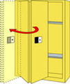 SECURALL ACID & CORROSIVE STORAGE CABINET # C230 - 30 Gal. Self-Close, Self-Latch Sliding Door, 44 x 43 x 18