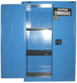 SECURALL ACID & CORROSIVE STORAGE CABINET # C345 - 45 Gal. Self-Close, Self-Latch Safe-T-Door, 67 x 43 x 18