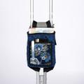 "Maddak Crutch Bag, Print, Blue # F703290000 - 9"" x 6"" x 1.5"" (22.86 x 15.24 x 3.81 cm), each"