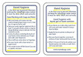 Glo Germ Hand Hygiene Cards # HHC