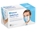 Medicom SafeMask Premier Plus Earloop Mask # 2040 - ASTM Level 2, Blue, 50/bx
