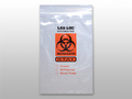 "ELKAY 3-WALL SPECIMEN TRANSFER BAGS # LAB20606STAT - 3-Wall Specimen Transfer Bag, Reclosable, Biohazard STAT, 2 mil, 6"" x 6"", 1000/cs - Careforde Healthcare Supply"
