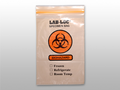 "ELKAY 3-WALL SPECIMEN TRANSFER BAGS # LAB20609OE - 3-Wall Specimen Transfer Bag, Reclosable, Biohazard, Orange Tint, 2 mil, 6"" x 9"", 1000/cs - Careforde Healthcare Supply"