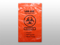 "ELKAY 3-WALL SPECIMEN TRANSFER BAGS # LAB20609ROP - 3-Wall Specimen Transfer Bag, Reclosable, Biohazard, Red Opaque, 2 mil, 6"" x 9"", 1000/cs - Careforde Healthcare Supply"