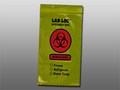 "ELKAY 3-WALL SPECIMEN TRANSFER BAGS # LAB20609YE - 3-Wall Specimen Transfer Bag, Reclosable, Biohazard, Yellow Tint, 2 mil, 6"" x 9"", 1000/cs - Careforde Healthcare Supply"