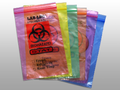 "ELKAY 2-WALL SPECIMAN TRANSFER BAGS # LAB221215GE - 2-Wall Specimen Transfer Bag, Reclosable, Biohazard, Green Tint, 2 mil, 12"" x 15"", 1000/cs - Careforde Healthcare Supply"