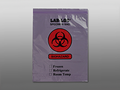 "ELKAY 2-WALL SPECIMAN TRANSFER BAGS # LAB221215PU - 2-Wall Specimen Transfer Bag, Reclosable, Biohazard, Pink Tint, 2 mil, 12"" x 15"", 1000/cs - Careforde Healthcare Supply"
