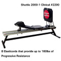 "Shuttle Systems 2000-1 Rehabilitation Device # 2200 - Clinical Package with Kickplace Assembly, 25"" Stand, Adjustable Backrest, Lateral Handles, Progress Monitor Strip, Light Resistance Attachment, 20"" Wobble Board & Wobble Board Adapter, Each"