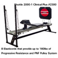 "Shuttle Systems 2000-1 Rehabilitation Device # 2300 - 25"" Stand, Adjustable Backrest, Lateral Handles, Progess Monitor Strip, Light Resistance Attachment, ROM Control, 20"" Wobble Board, Wobble Board Adapter & Expansion Towers, Each"
