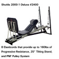 "Shuttle Systems 2000-1 Rehabilitation Device # 2400 - 25"" Tilting Stand, Adjustable Backrest, Lateral Handles, Progess Monitor Strip, Light Resistance Attachment, ROM Control, Foot Supports & Expansion Towers, Each"